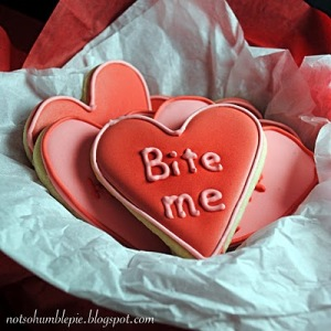 Click for more hilarious bitter Valentine's Day cookies